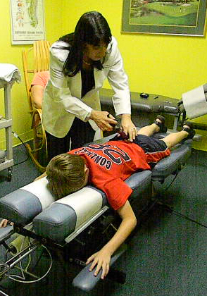 Haber-DiBoni Chiropractic treating a young boy